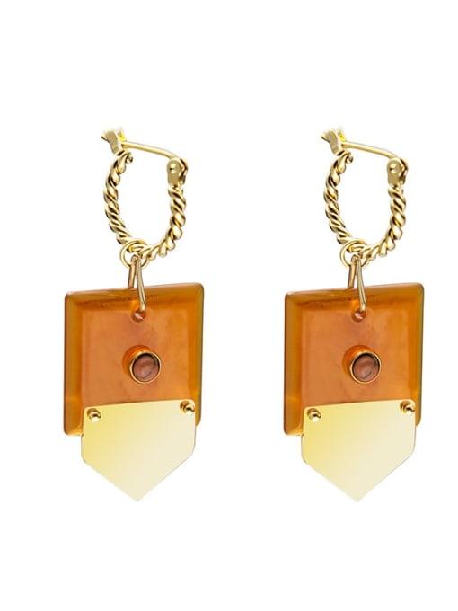 SE20121305 O Titanium Steel Geometric Minimalist Huggie Earring
