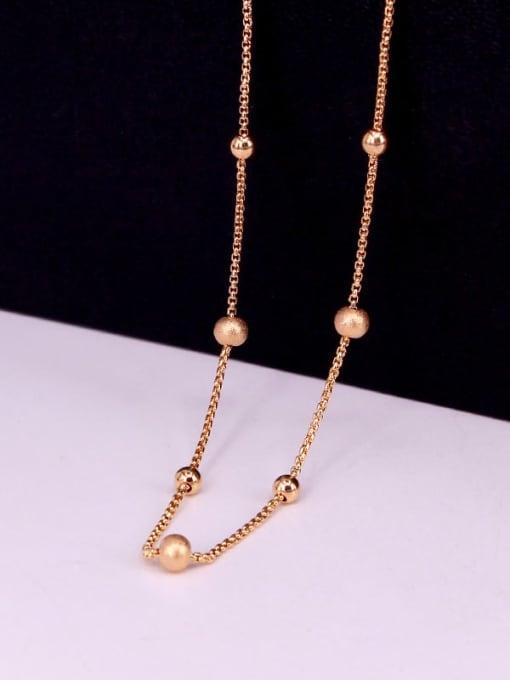 K.Love Titanium Steel Bead Round Minimalist Necklace 3