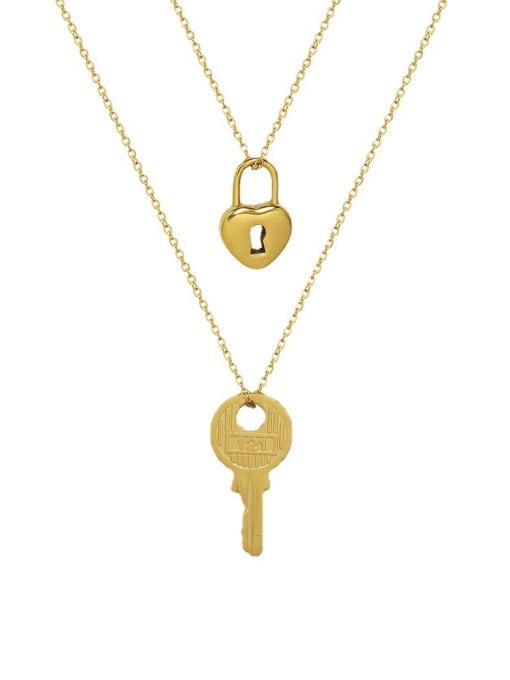 MAKA Titanium Steel Key Minimalist Necklace 0