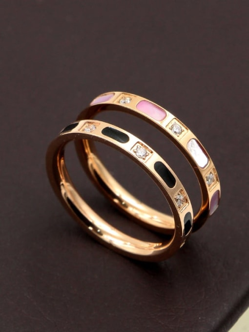 K.Love Titanium Steel Shell Geometric Minimalist Band Ring 1