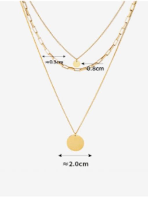 MAKA Titanium Steel Geometric Minimalist Multi Strand Necklace 2