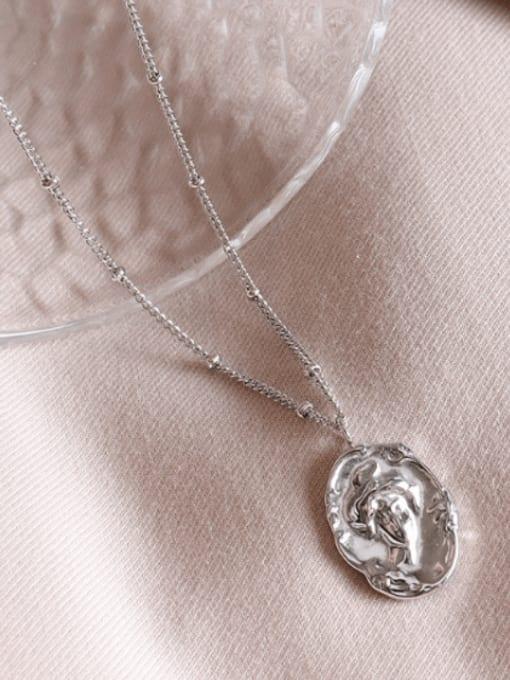 MAKA Titanium Steel Geometric Vintage Necklace 2