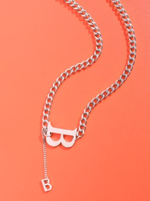Steel necklace 39+5cm Titanium Steel Tassel Vintage Tassel Necklace