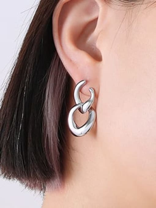 F539 steel Titanium Steel Geometric Minimalist Drop Earring