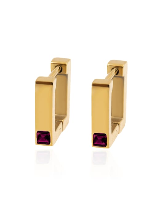 YAYACH Square Earrings women's color preserving anti allergy versatile Earrings