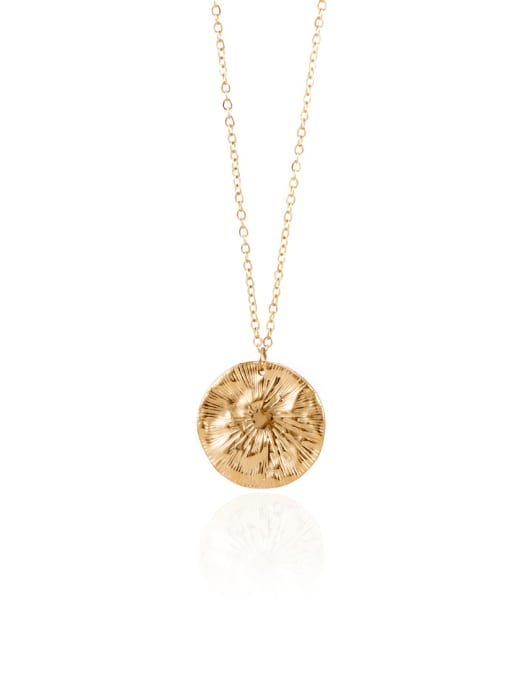 YAYACH Vintage simple all-match coin pendant golden necklace 0