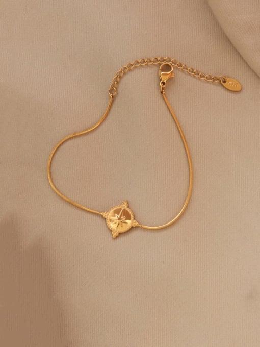 MAKA Titanium Steel Geometric Vintage Link Bracelet 2