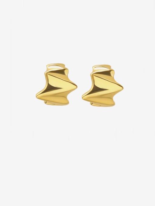 MAKA Titanium Steel Irregular Minimalist Stud Earring 0