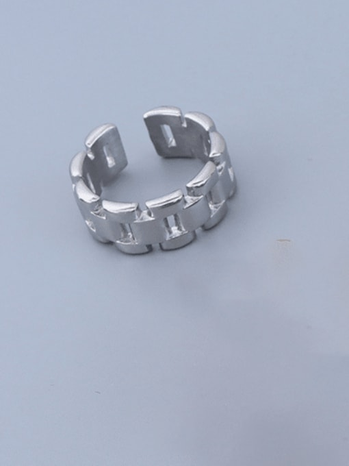 A215 steel ring (opening not adjustable) Titanium 316L Stainless Steel Geometric Minimalist Band Ring with e-coated waterproof
