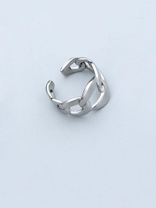 MAKA Titanium Steel  Hollow Geometric Minimalist Band Ring 0