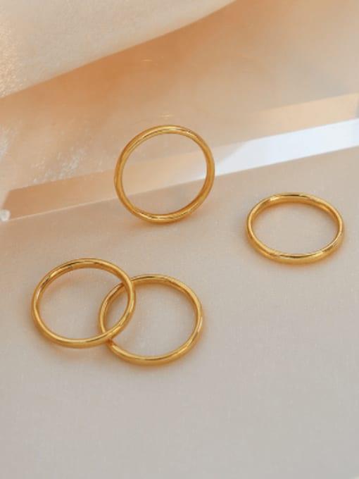 MAKA Titanium Steel Round Minimalist Band Ring 0