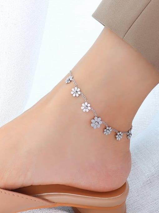MAKA Titanium Steel  Flower Vintage Anklet 2