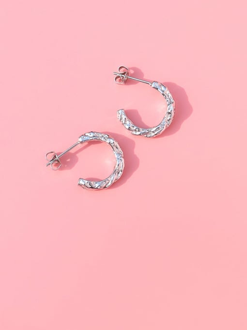 Steel Titanium Steel C shape Minimalist Stud Earring