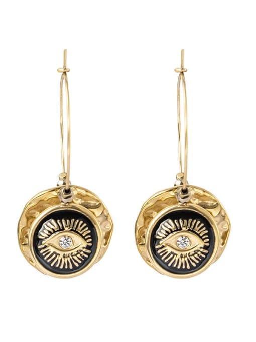 YAYACH Eye shape round oil dropping Earrings European and American Earrings