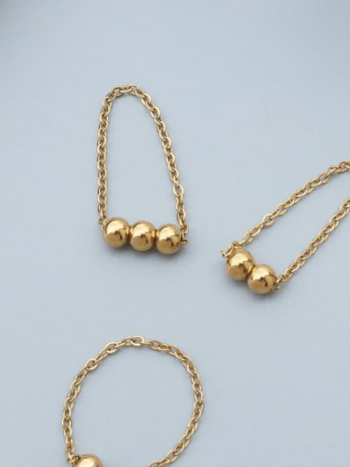 MAKA Titanium Steel Bead Round Minimalist Band Ring 2