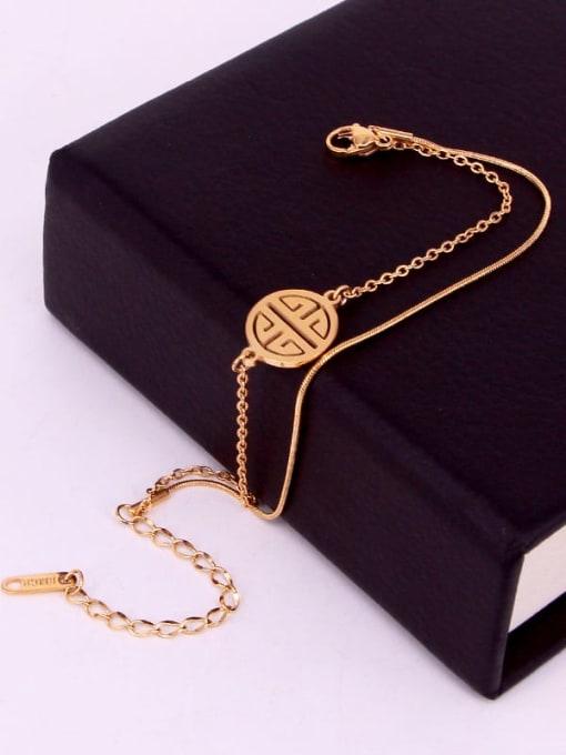 K.Love Titanium Steel Snake Minimalist Strand Bracelet 2