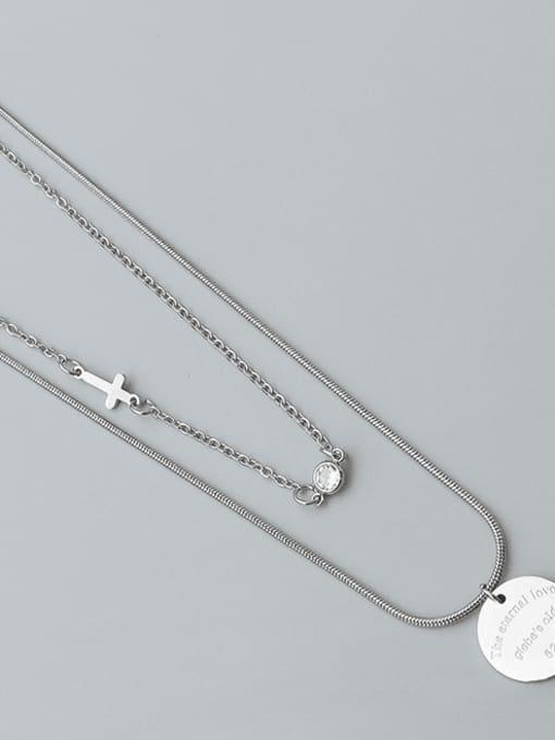 Steel Titanium Steel Geometric Minimalist Multi Strand Necklace
