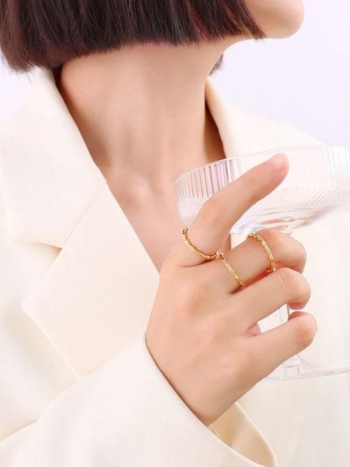 A260 gold versatile ring Titanium Steel Irregular Minimalist Band Ring