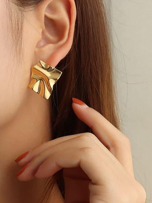 MAKA Titanium Steel Irregular Vintage Stud Earring 1