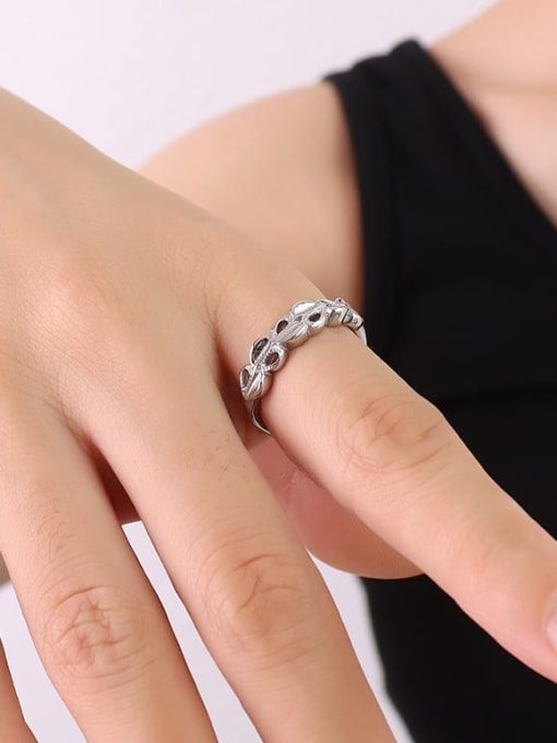 A226 steel ring Titanium Steel Hollow Heart Hip Hop Band Ring