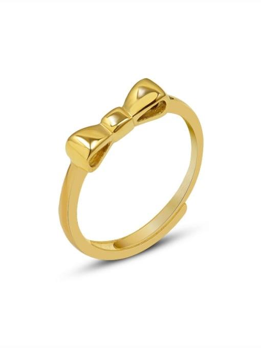 MAKA Titanium Steel Bowknot Minimalist Band Ring 0