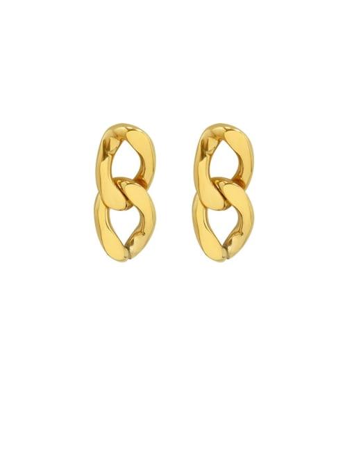 gold Titanium Steel Hollow Geometric Vintage Drop Earring