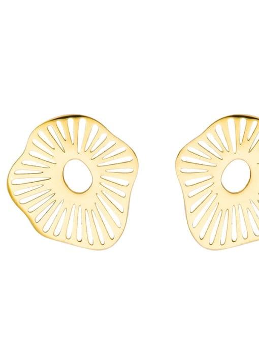 YAYACH Lotus leaf light luxury simple Earrings 1