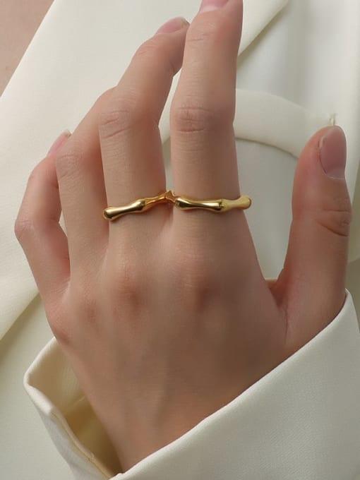 MAKA Titanium Steel Geometric Minimalist Band Ring 1