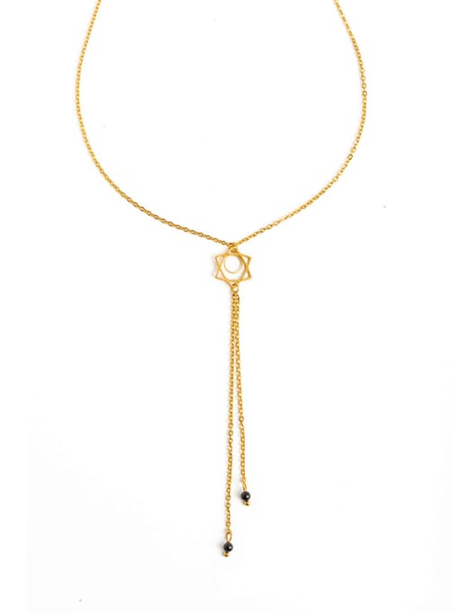 YAYACH Astral Hollow Necklace European and American Texture Pendant Long Chain