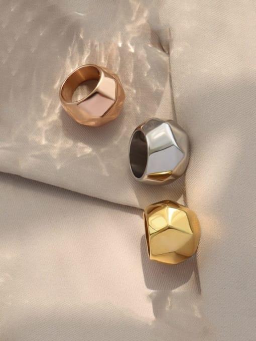 MAKA Titanium Steel Irregular Artisan Band Ring 1