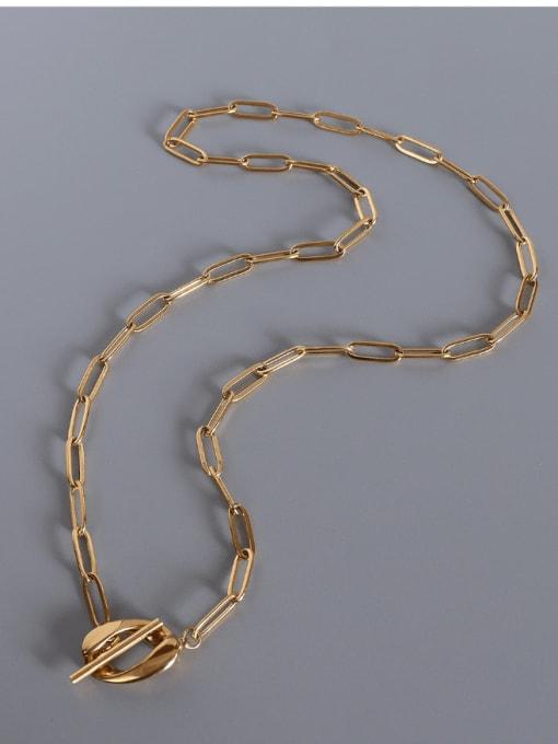 Gold OT  necklace Titanium Steel Geometric Vintage Multi Strand Necklace