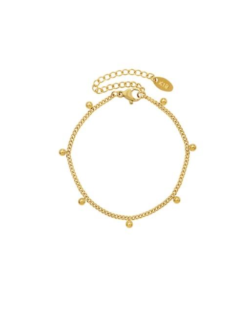 MAKA Titanium Steel  Bead Minimalist Link Bracelet 0
