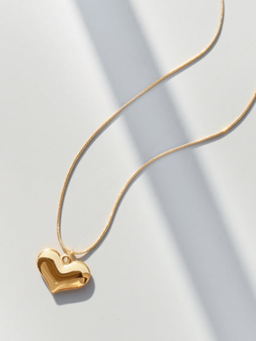 MAKA Titanium Steel Heart Minimalist Necklace 2