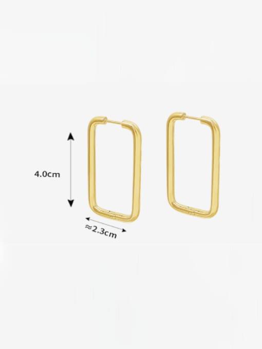 MAKA Titanium Steel Geometric Minimalist Huggie Earring 3