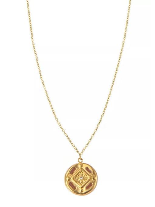 YAYACH Cross Pendant Gold Retro All-match Thin Titanium Steel Necklace 1