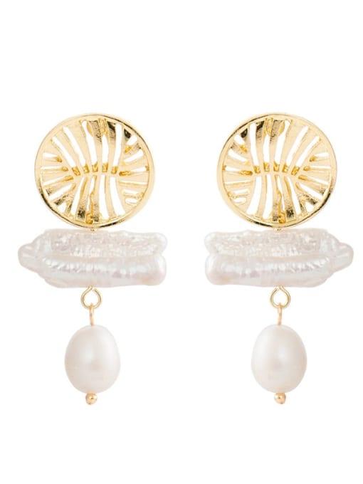 YAYACH Shaped Pearl Pendant Earrings