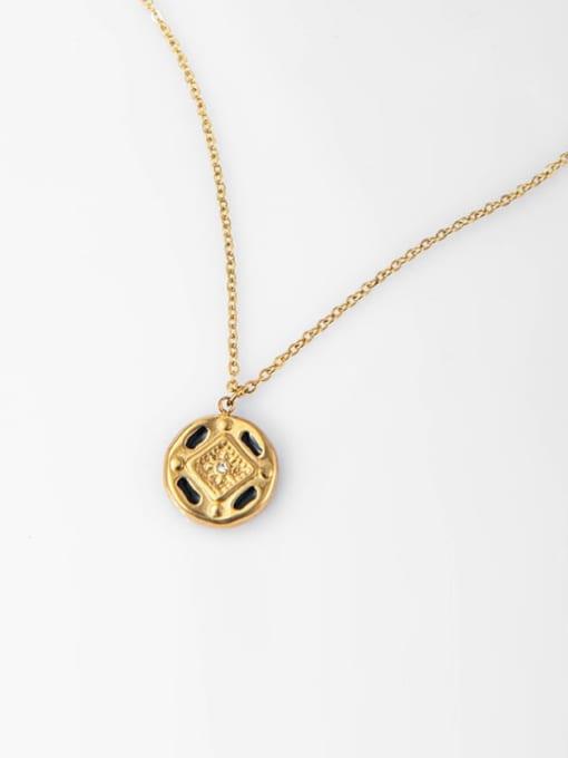 YAYACH Cross Pendant Gold Retro All-match Thin Titanium Steel Necklace 3