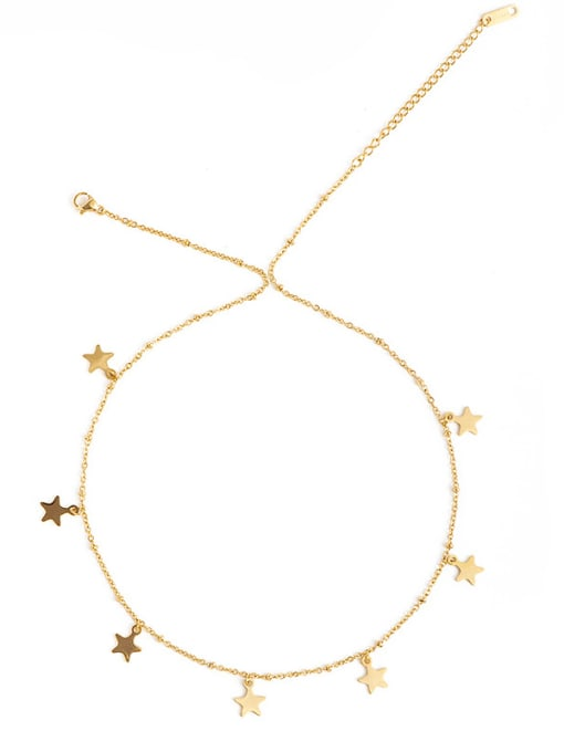 YAYACH Gold thin chain European and American fashion small star pendant necklace 1