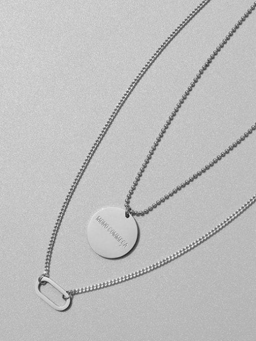 Stee Titanium Steel Geometric Vintage Multi Strand Necklace