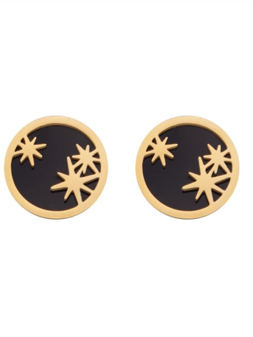 YAYACH Personalized exquisite awn star simple geometric stainless steel earrings 1