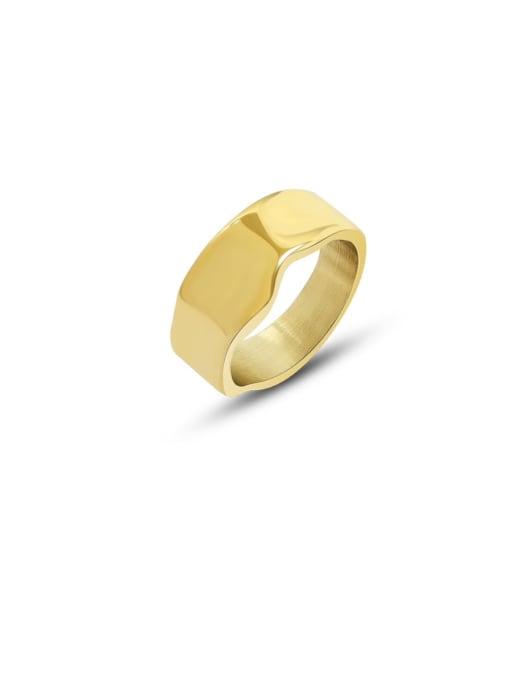 Gold ring Titanium Steel Geometric Minimalist Band Ring