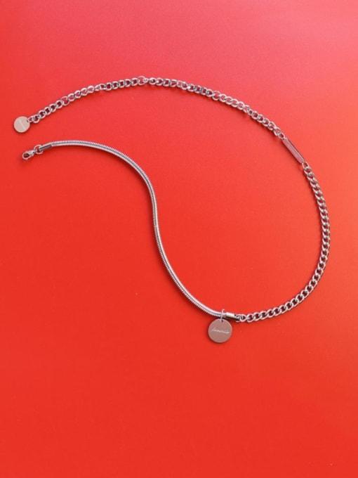 MAKA Titanium Steel Geometric Vintage Necklace