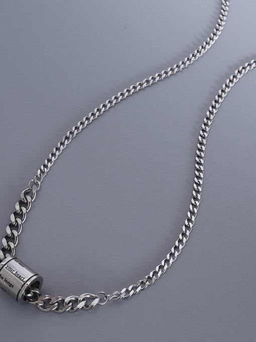 steel Titanium Steel Geometric  Letter Vintage Necklace