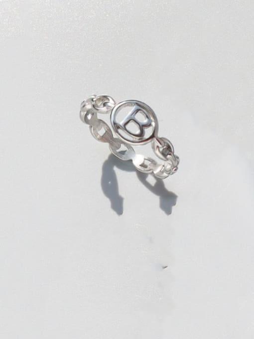 Steel Titanium Steel Letter Minimalist Band Ring