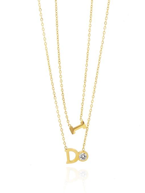 YAYACH Inlaid zircon geometric pendant ins wind multi-layered necklace 0