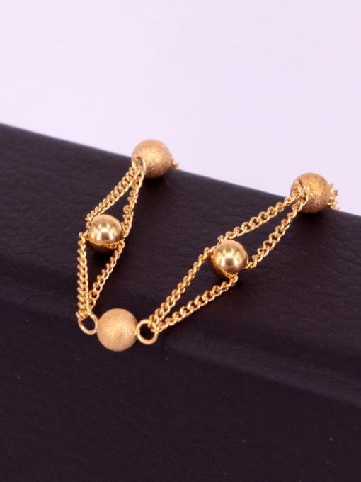 K.Love Titanium Steel Bead Round Minimalist Strand Bracelet 1