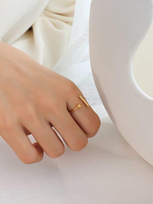 MAKA Titanium 316L Stainless Steel Geometric Minimalist Band Ring with e-coated waterproof 3