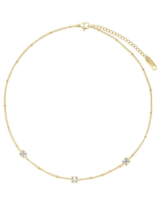 YAYACH French elegant small square combination necklace 0
