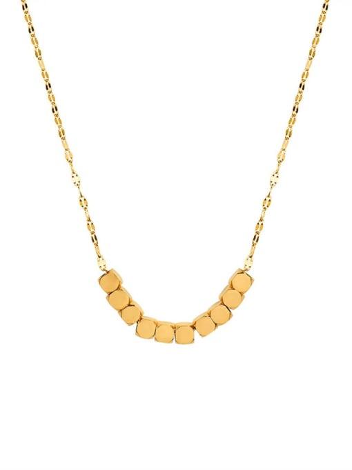 Golden fish mouth chain Titanium Steel Geometric Minimalist Necklace