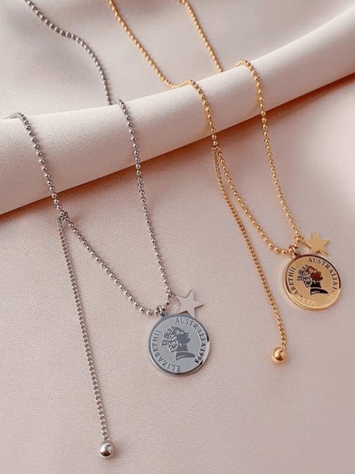 MAKA Titanium Steel Tassel Minimalist Necklace 2